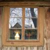 Okno - cerkiew w Leżachowie/Szlak Architektury Drewnianej/Wooden Architecture Trail